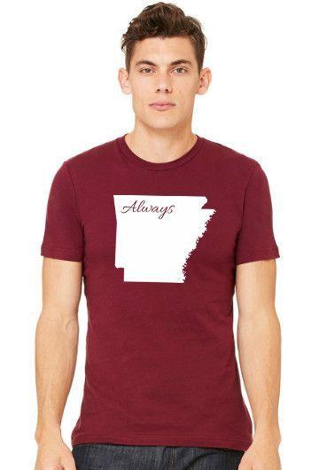 """Arkansas """"Always"""" State Pride Tee"""