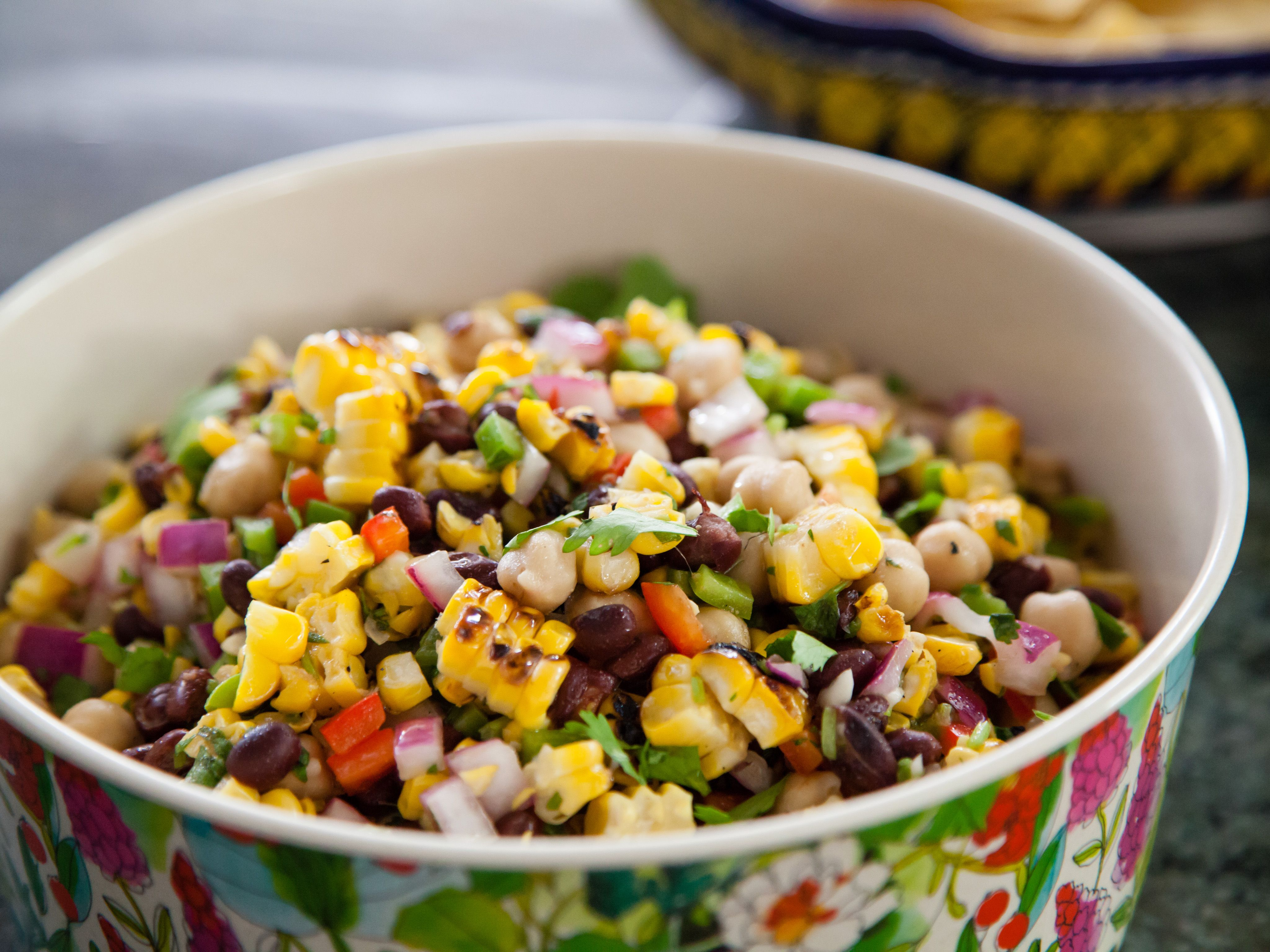 grilled corn and poblano salad with chipotle vinaigrette