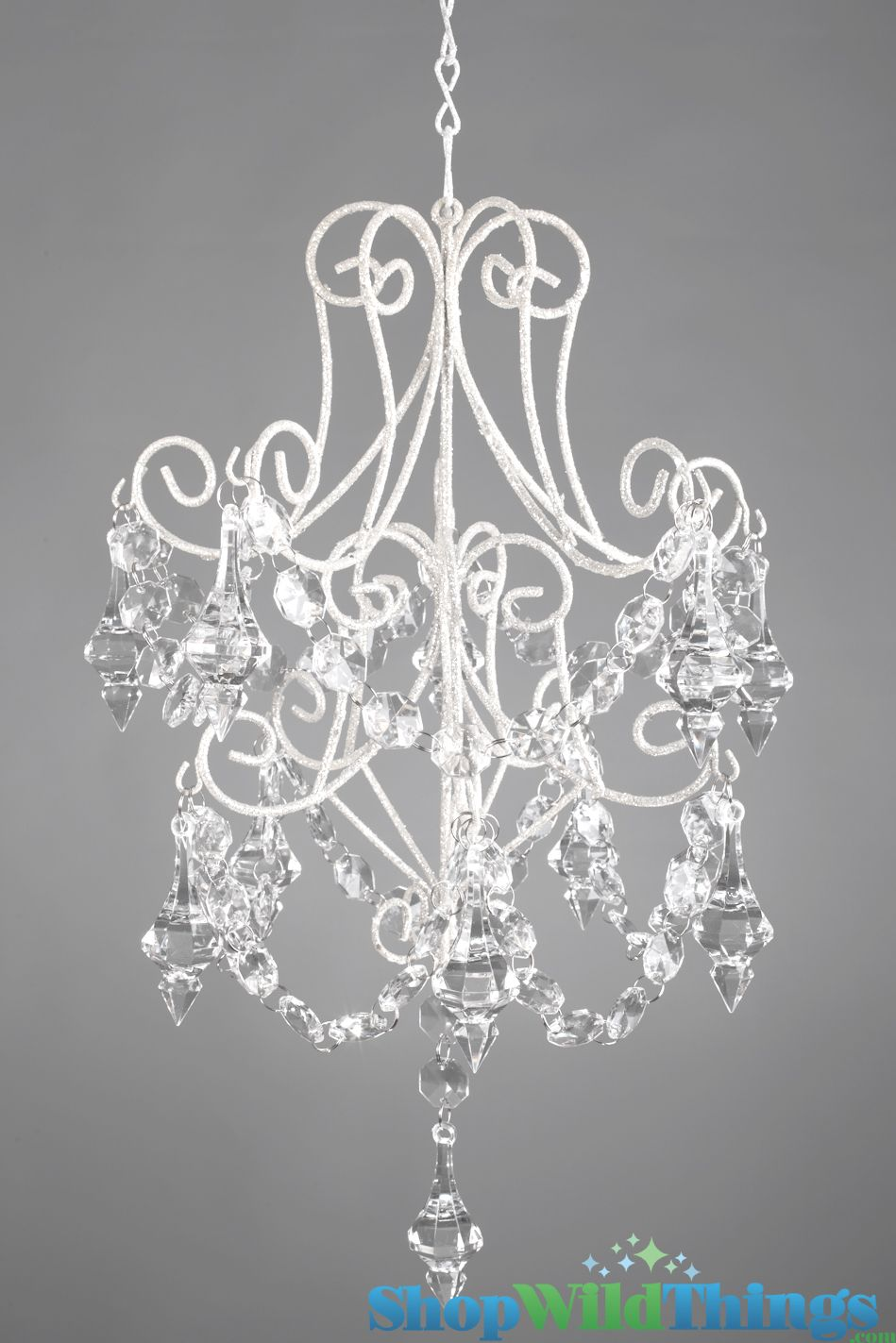 Create your very own chandelier decoration using our white metal ...