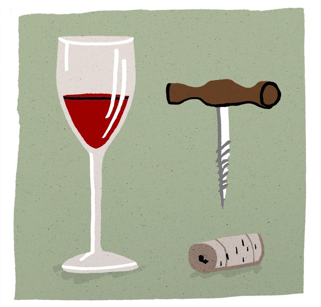 Corkscrew & wine