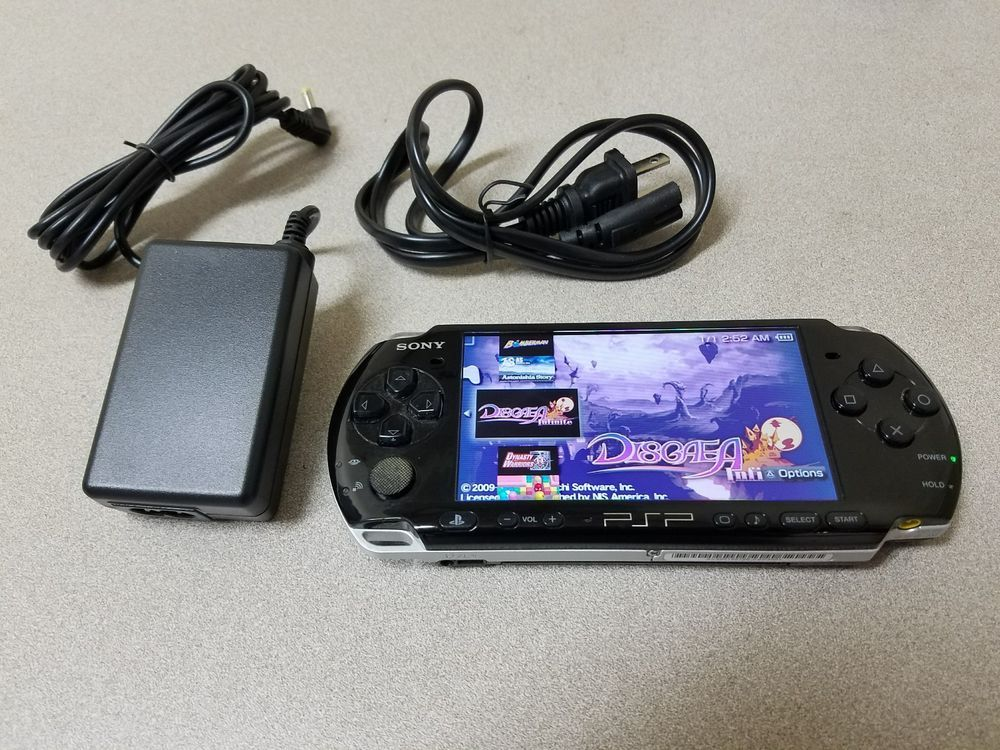 Sony PSP 3000 Modded Black Handheld Console CFW Over 2500