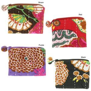 Hand-Stitched Kantha Coin Purse