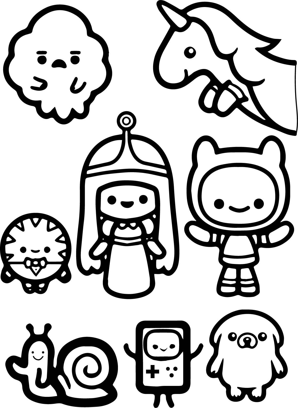 Cool Adventure Time Finn And Jack Child Coloring Page Adventure