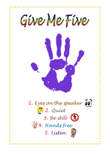 graphic relating to Give Me Five Poster Printable Free identified as Graphic final result for offer you me 5 poster printable absolutely free