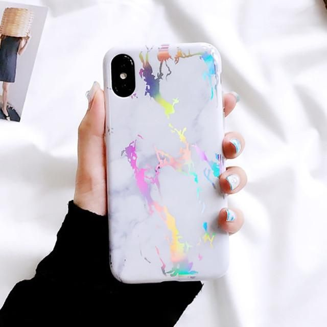 Lack Laser Marble Phone Case For Iphone 11 11pro Max Xs X Xr Xs Max 6 6s 7 8 Plus Back Cover Fashion In 2020 Phone Cases Marble Marble Iphone Case Pattern Iphone Case