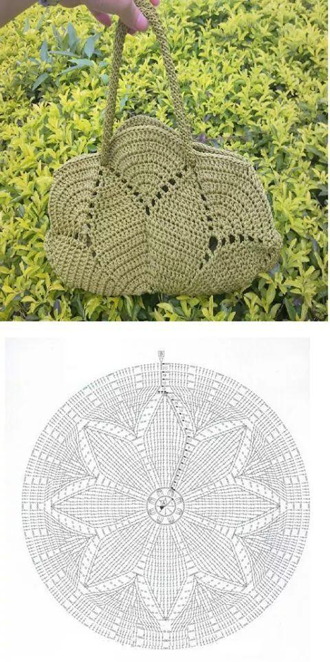 Bolso de mano | Crochet | Pinterest | Bolsos, Ganchillo y Tejido