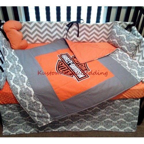 Alf Img Showing Harley Davidson Baby Bedding Set