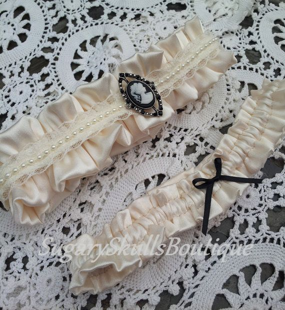 Day Of The Dead Wedding Ceremony Garter By