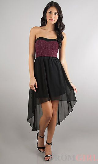 High Low Strapless Dress At Promgirl Com Dress Winter Winter Formal Dresses Holiday