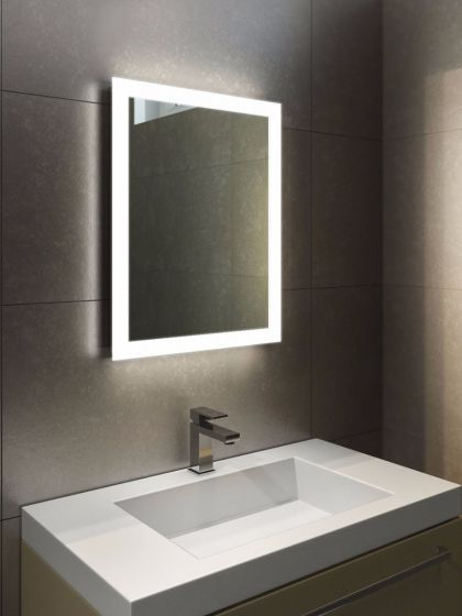 bathroom mirrors with lights in them. Halo Tall LED Light Bathroom Mirror 1416 Mirrors With Lights In Them O