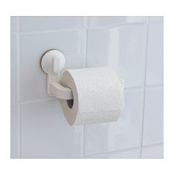STUGVIK Toilet roll holder with suction cup, white | Toilet roll ...