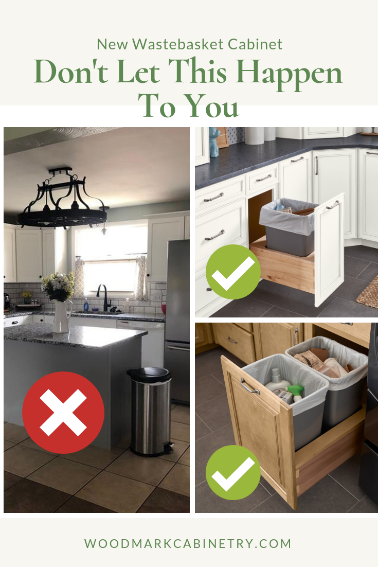 Wastebasket Cabinet Hidden Trash Can Kitchen Kitchen Room Design Kitchen Cabinets In Bathroom