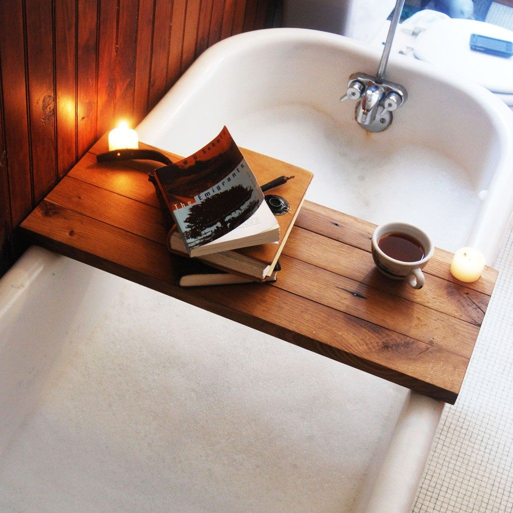Make A Relaxing Statement In Your Elegant Bath With The Wooden Tub
