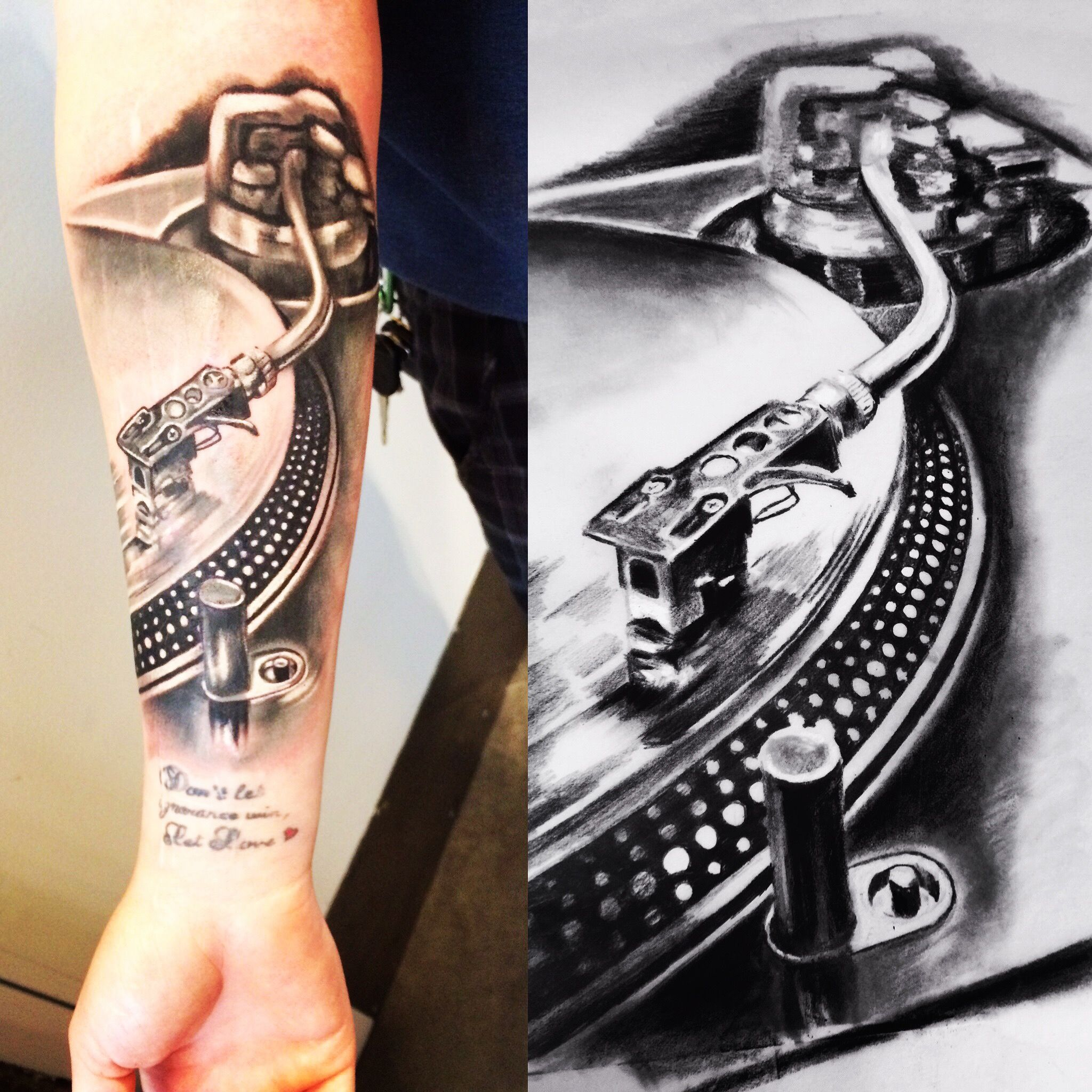 Photo of Record player tattoo