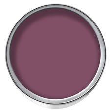 wilko colour emulsion paint aubergine 75ml   dulux feature