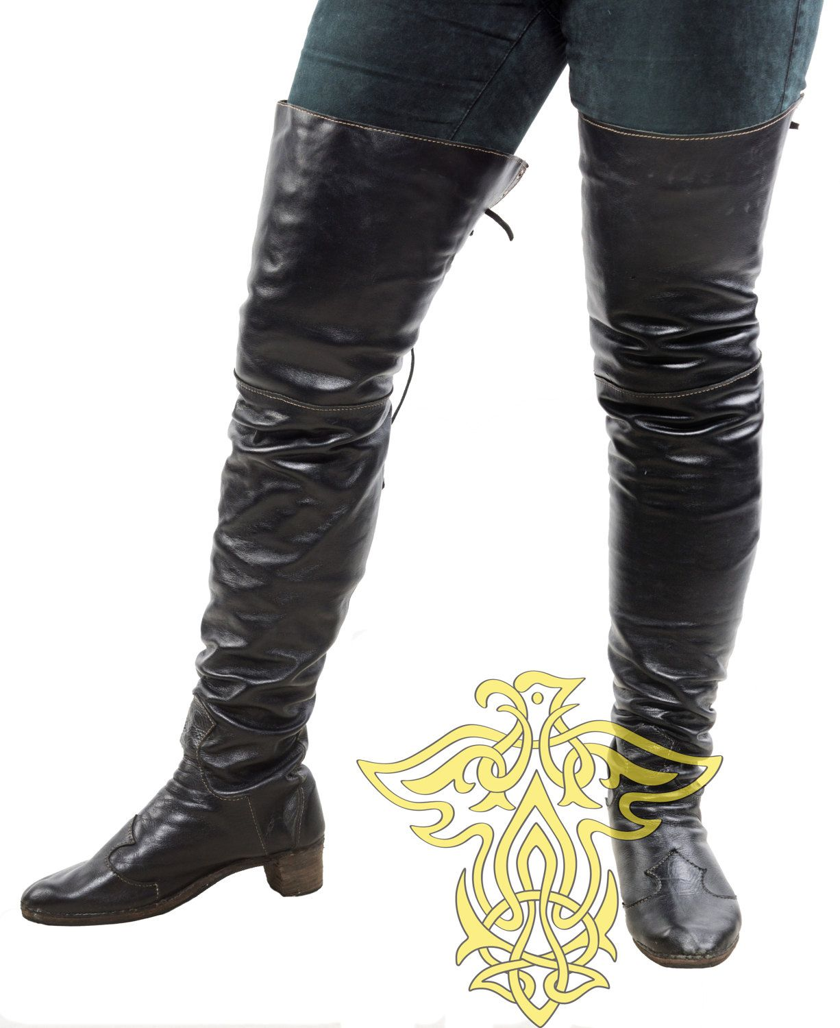 93bd8bc8e4676 High boots ; Pirate Boots, Boots Musketeers; cosplay; LARP ...