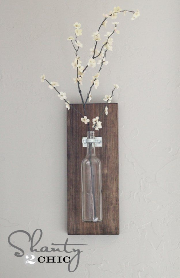Wine Bottle Wall Decor Brilliant Diy Decor Ideas For The Bedroom  Wine Bottle Wall Vase