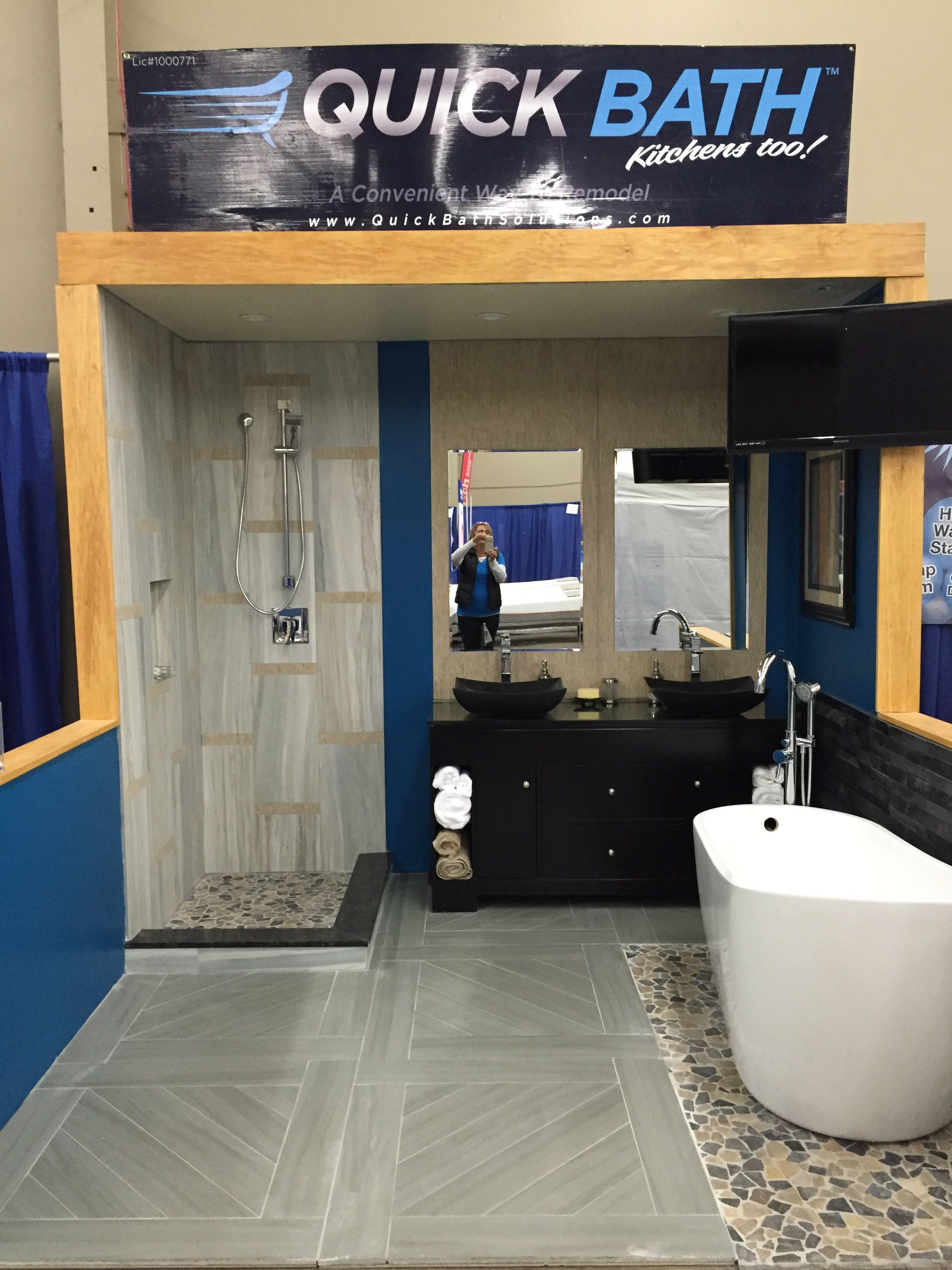 Images On Considering a remodel Quick Bath showed off their beautiful bathroom at The Fresno Fall Home Improvement Show You too can have a remodeled bathroom in