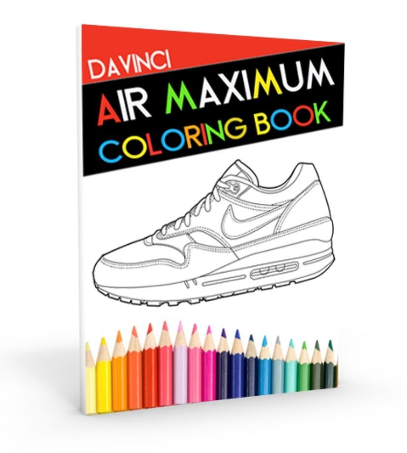 Air Maximum Coloring Book Now Available At Coloringbooklife Com Airmaxzero Coloring Books Jordan Coloring Book Color