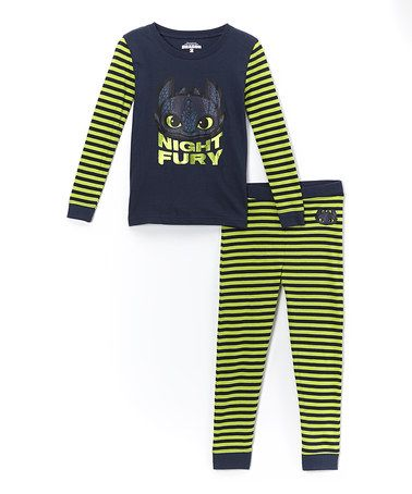 Look at this zulilyfind green navy night fury pajama set green navy night fury pajama set night furytrain your dragonhow ccuart Image collections