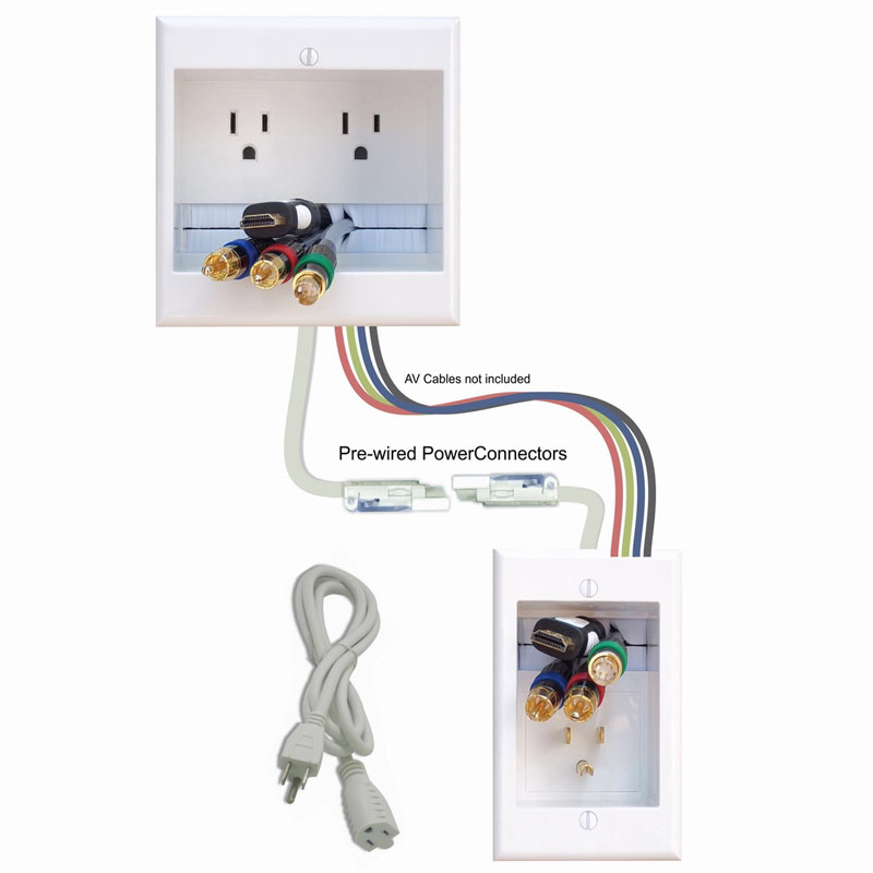 Hiding Wires For A Tv Above Fireplace Extension Kit Powerbridge Cable Management Wall Wall Mounted Tv Hide Tv Wires
