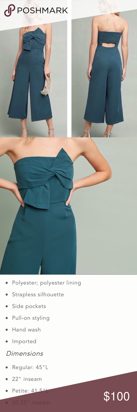 9f134289e3a5 Anthropologie Hailee C Beatty Strapless Jumpsuit Size 0 New without tags Anthropologie  Pants Jumpsuits   Rompers