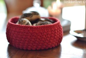 Photo of Crocheted bubble bread basket with recipe (Knitting Sheet)