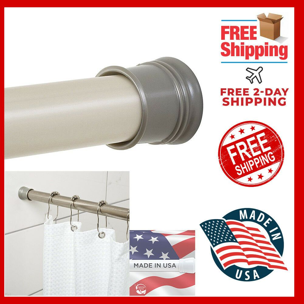 Zenna Home 505st Tension Shower Curtain Rod 44 To 72 Inch