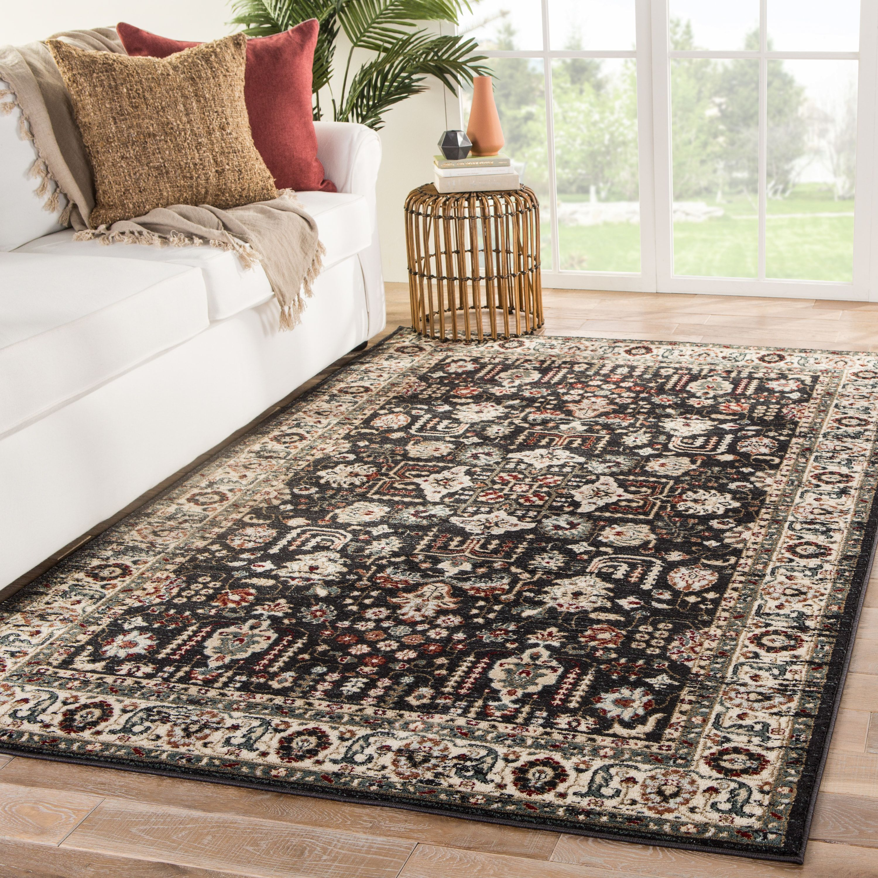 Sylva Rug Color Dark Gray Red Size 7 10 X 10 10 Area