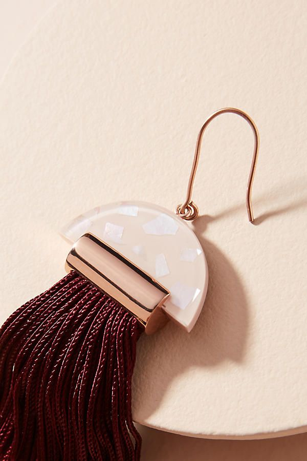 Slide View: 2: Gravity Tassel Drop Earrings