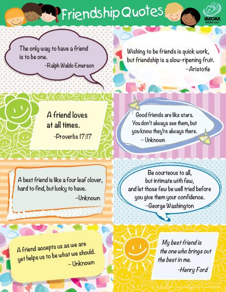 Friendship Quotes For Kids Favorite Friendship Quotes for Kids   Printable | NPS SSW  Friendship Quotes For Kids