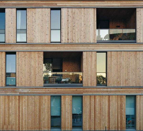 Wohnhaus der IBA in Hamburg von David Adjaye und Planpark, Fassadendetail