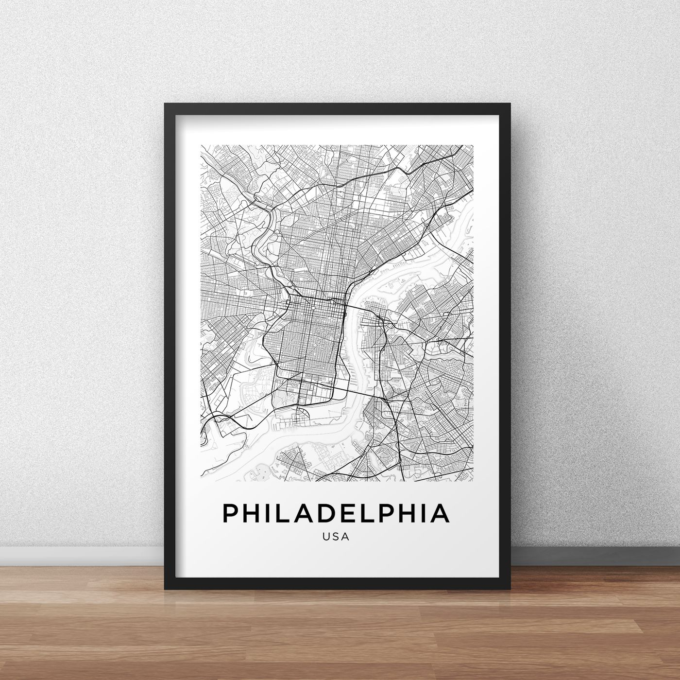 photo relating to Printable Maps of Philadelphia named Philadelphia Map Print, Philadelphia Map Down load, Town Map