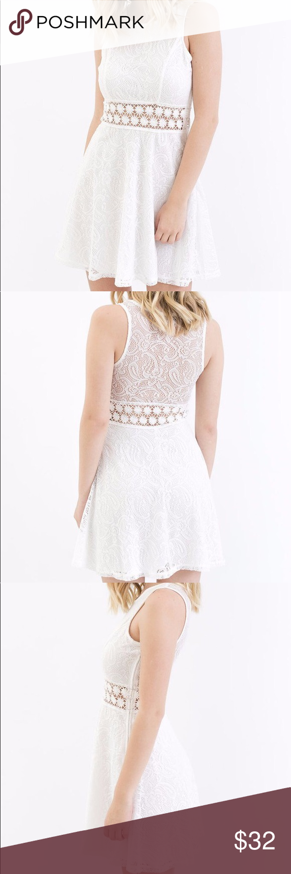 White Lace Dress Lace White Dress Crotchet Dress Dresses