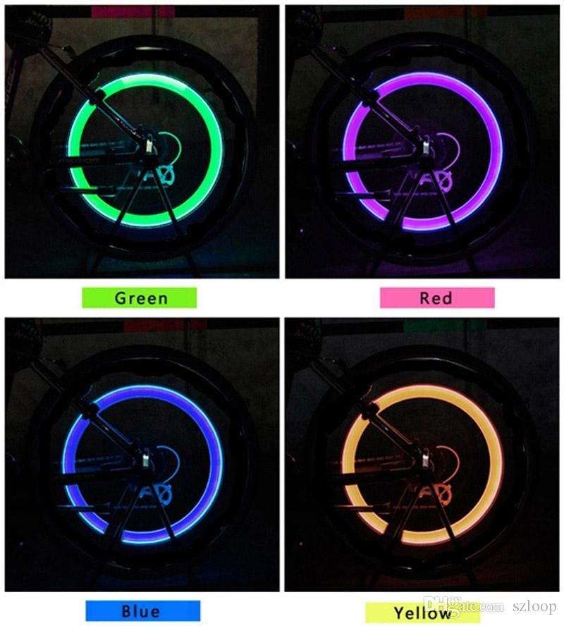 Neon LED Lamp Flash Tyre Wheel Valve Cap Light for Car Bicycle Motorcycle Envy