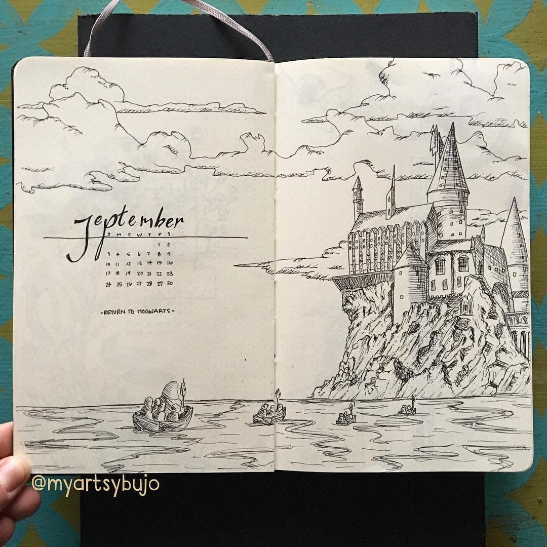 Harry Potter Bullet Journal Ideas - Head Back to Hogwarts