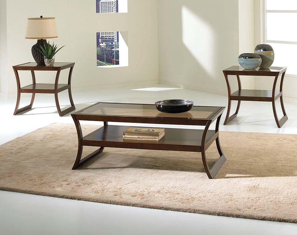 Unique Brown And Glass Coffee End Tables Utopia 3 Piece Table Set Coffee Table Coffee Table And Side Table Set Standard Furniture [ 794 x 1000 Pixel ]