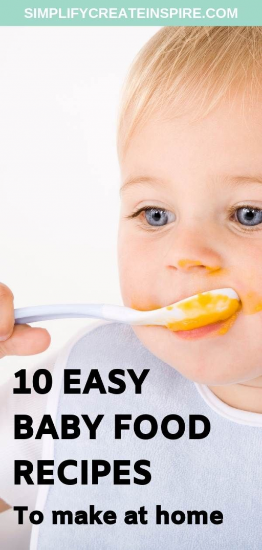 The easy homemade baby food recipes will help you to make healthy and delicious baby food meals for your baby to suit different ages and stages of development. Make your own baby food at home easily #babyfoodrecipes #babyfood #babyfood #baby #food #baby #food #chart #by #age