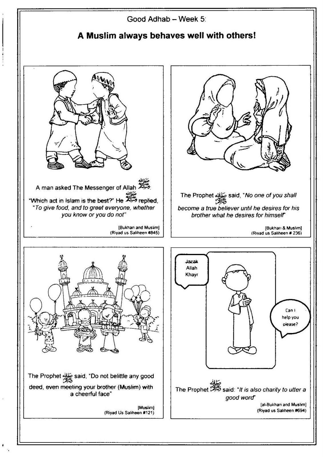 A Muslim Homeschool Good Adhab Week 5
