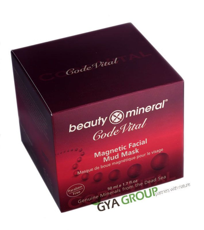 Beauty Mineral Dead Sea Magnetic facial mud mask, prestigious Code Vital series