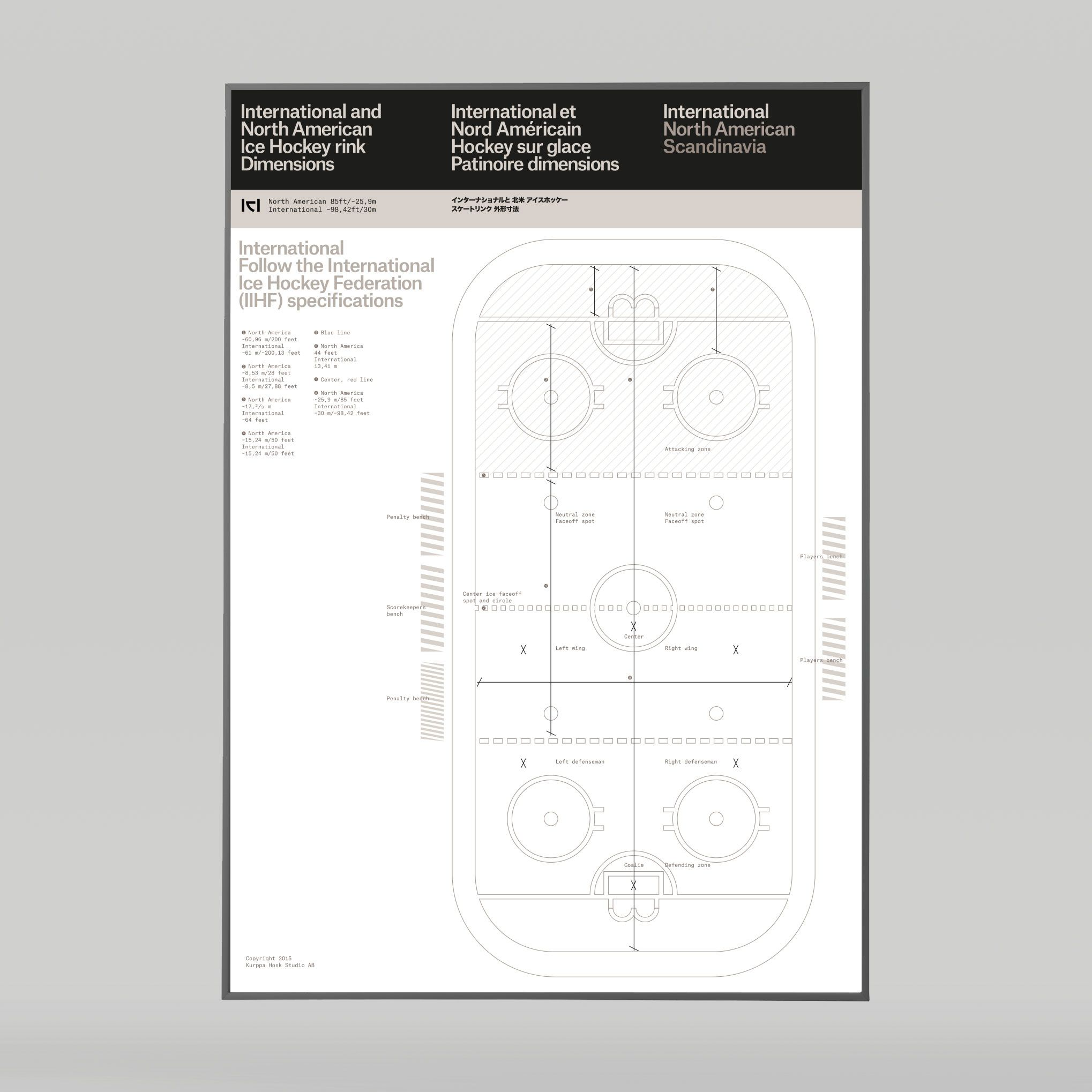 Hockey Rink dimensions poster