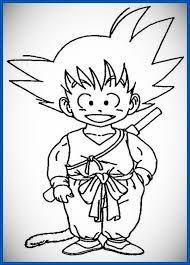 Resultado De Imagen Para Dibujo Sencillo De Goku Dibujo De Goku Imagenes De Goku Dibujos