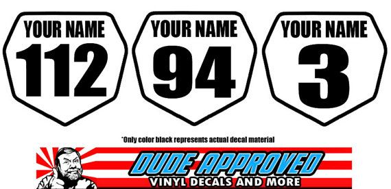 Set Of 2 Custom Motocross Dirt Bike Mini Front Number Plates