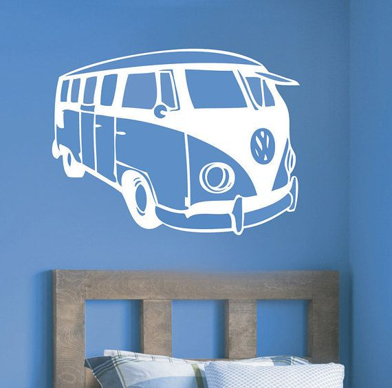 VW Campervan wall decal - vinyl wall art graphics sticker ...