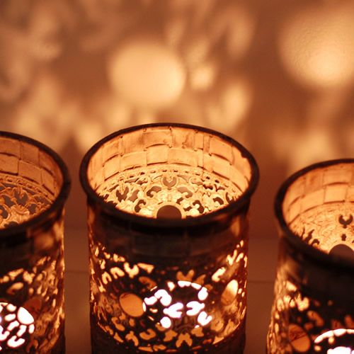 Moroccan Candle Gifts and small gifts a cream rustic glow candle holder perfect for tea lights in rustic patina