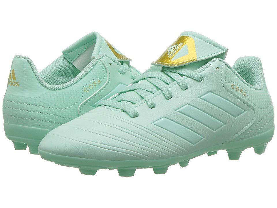 4b175bfdc adidas Kids Copa 18.4 FXG Soccer (Little Kid/Big Kid) Kids Shoes Clear  Mint/Gold Metallic