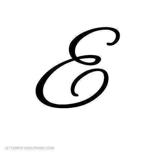 alphabet letters black cursive e tattoo pinterest alphabet letters cursive and tattoo. Black Bedroom Furniture Sets. Home Design Ideas