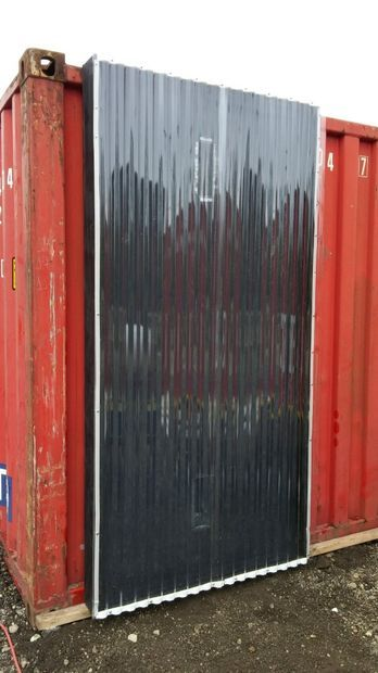 Solar Thermal Air Heater On A Shipping Container
