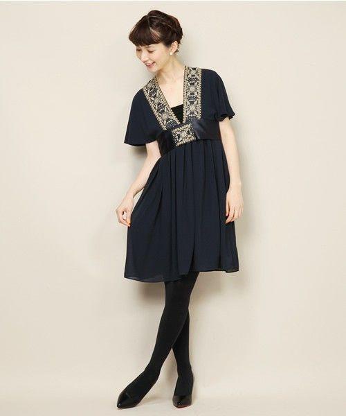 78c5cdb617910 BEAMS LIGHTS   ハンド刺繍 ワンピース(ワンピース)|BEAMS LIGHTS Women s(ビームスライツ  ウィメンズ)のファッション通販 - ZOZOTOWN