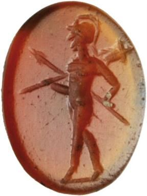 Lot 50 – Mars 2nd-3rd cent. A.D.Intaglio – Antiquities - An Important Selection of Engraved Gems and Cameos 12 Dec 2012